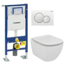 Pack WC Geberit Autoportant + Cuvette Tesi Aquablade